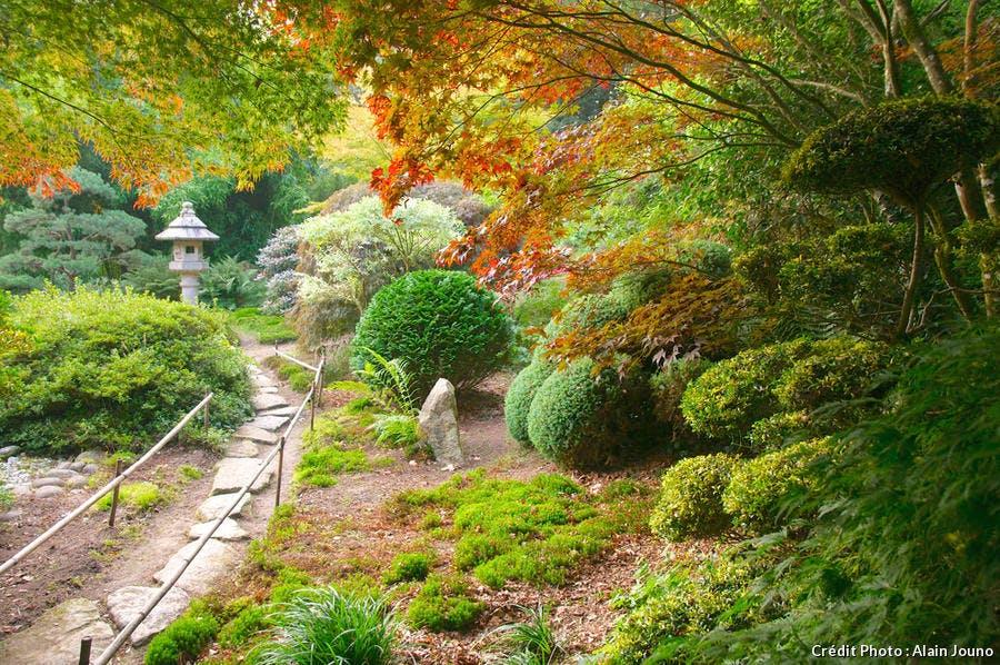 une idée de jardin japonais particulièrement dépaysant.