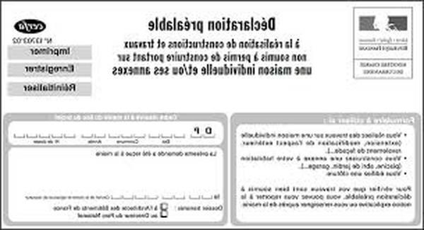 formulaire déclaration de travaux ravalement de façade